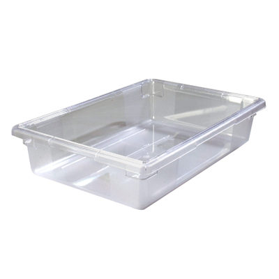 "8.5 Gallon Clear StorPlus™ Color-Coded Food Storage Box 26"" x 18"" x 6"" (Lids sold separately)"