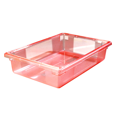 "8.5 Gallon Red StorPlus™ Color-Coded Food Storage Box 26"" x 18"" x 6"" (Lids sold separately)"