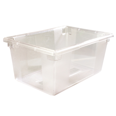 "16.6 Gallon Clear StorPlus™ Color-Coded Food Storage Box 26"" x 18"" x 12"" (Lids sold separately)"