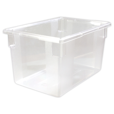 "21.5 Gallon Clear StorPlus™ Color-Coded Food Storage Box 26"" x 18"" x 15"" (Lids sold separately)"