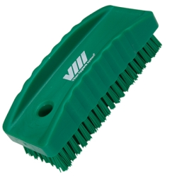 Green Nail Brush w/Stiff Bristles