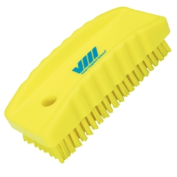 Yellow Nail Brush w/Stiff Bristles