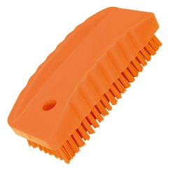 Orange Nail Brush w/Stiff Bristles