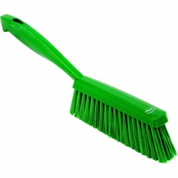 "Vikan® Green 14"" Edge Bench Brush with Medium Bristles"