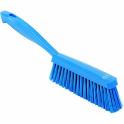 "Vikan® Blue 14"" Edge Bench Brush with Medium Bristles"