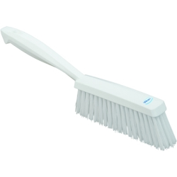 "Vikan® White 14"" Edge Bench Brush with Medium Bristles"
