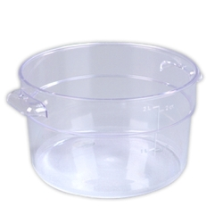 2 Quart Clear StorPlus™  Round Food Storage Container (Lid Sold Separately)