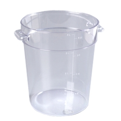 4 Quart Clear StorPlus™  Round Food Storage Container (Lid Sold Separately)