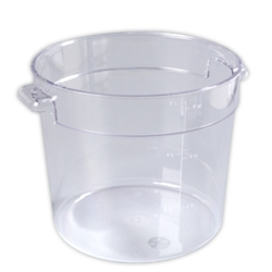 6 Quart Clear StorPlus™  Round Food Storage Container (Lid Sold Separately)