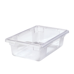 "3.5 Gallon Clear StorPlus™ Color-Coded Food Storage Box 18"" x 12"" x 6"" (Lids sold separately)"