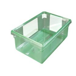 "5 Gallon Green StorPlus™ Color-Coded Food Storage Box 18"" x 12"" x 9"" (Lids sold separately)"