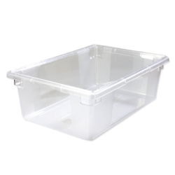 "12.5 Gallon Clear StorPlus™ Color-Coded Food Storage Box 26"" x 18"" x 9"" (Lids sold separately)"
