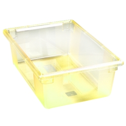 "12.5 Gallon Yellow StorPlus™ Color-Coded Food Storage Box 26"" x 18"" x 9"" (Lids sold separately)"