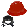 V-Gard® Full Brim Red HDPE Hat with Pinlock System