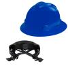 V-Gard® Full Brim Blue HDPE Hat with Ratchet System