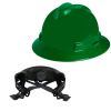 V-Gard® Full Brim Green HDPE Hat with Ratchet System