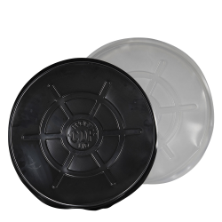 Black & Clear Plastic Drum Lids