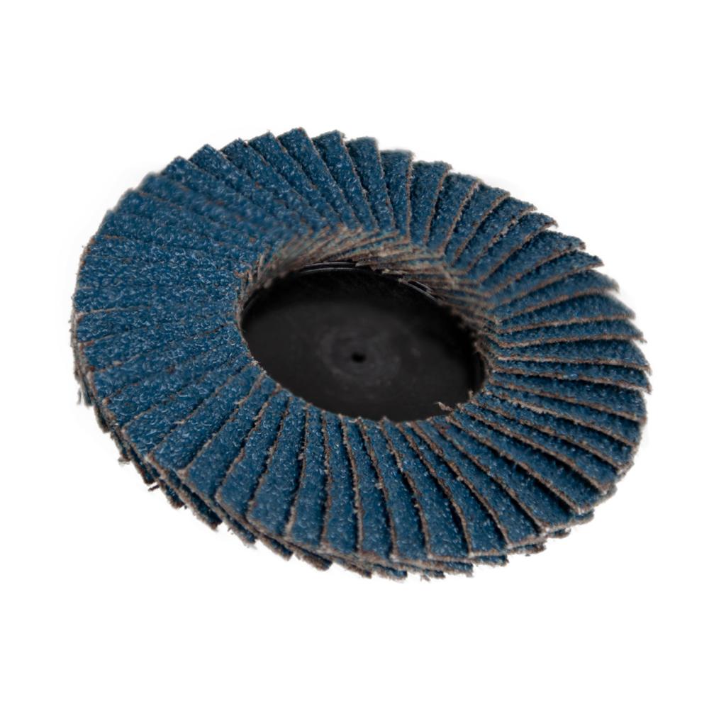 "3"" Zirconia Roloc® Type 80 Grit Mini Flap Discs"