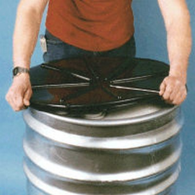 Black & Clear Plastic Drum Lids