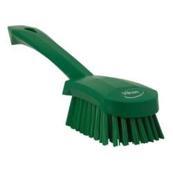 Vikan® Green Short Handled Stiff Hand Brush
