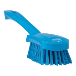 Blue Short Handled Stiff Hand Brush