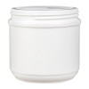 16 oz. HDPE White Canister with 89mm Neck (Cap Sold Separately)