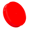 120mm Red Polypropylene Coarse Ribbed Lid