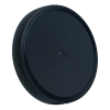 89mm Black Polypropylene Fine Ribbed Lid