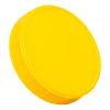 120mm Yellow Polypropylene Coarse Ribbed Lid
