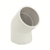 "1-1/2"" Schedule 40 White PVC Socket 45° Elbow"