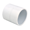 "8"" Schedule 40 White PVC Socket Coupling"