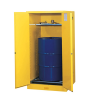 55 Gallon Manual-Close Justrite® Sure-Grip® EX Single Vertical Drum Cabinet with Roller Assembly