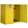110 Gallon Manual-Close Justrite® Sure-Grip® EX Single Vertical Drum Cabinet with Roller Assembly