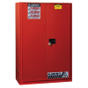 60 Gallon 1 Sliding Self-Close Door Justrite® Sure-Grip® EX Safety Cabinet for Combustibles