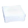 "Translucent Polypropylene Case - 6-1/4"" L x 6-1/4"" W x 2-1/8"" Hgt."