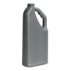 "32 oz. Gray HDPE ""No-Glug"" Jug with 33/400 Neck (Cap Sold Separately)"