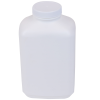 40 oz. White Polyethylene Wide Mouth Oblong Bottle with 53/400 Cap