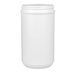 32 oz. HDPE White Canister with 89mm Neck (Cap Sold Separately)