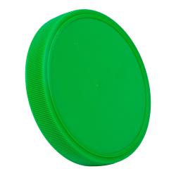 89mm Green Polypropylene Fine Ribbed Lid