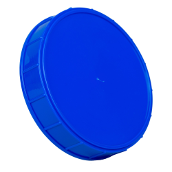 120mm Blue Polypropylene Course Ribbed Lid