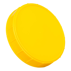 120mm Yellow Polypropylene Course Ribbed Lid