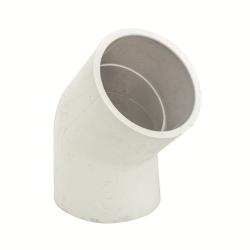 "8"" Schedule 40 White PVC Socket 45° Elbow"
