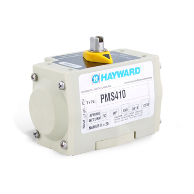 Hayward® PMS4 Glass Filled Polypropylene Air to Spring Pneumatic Actuators