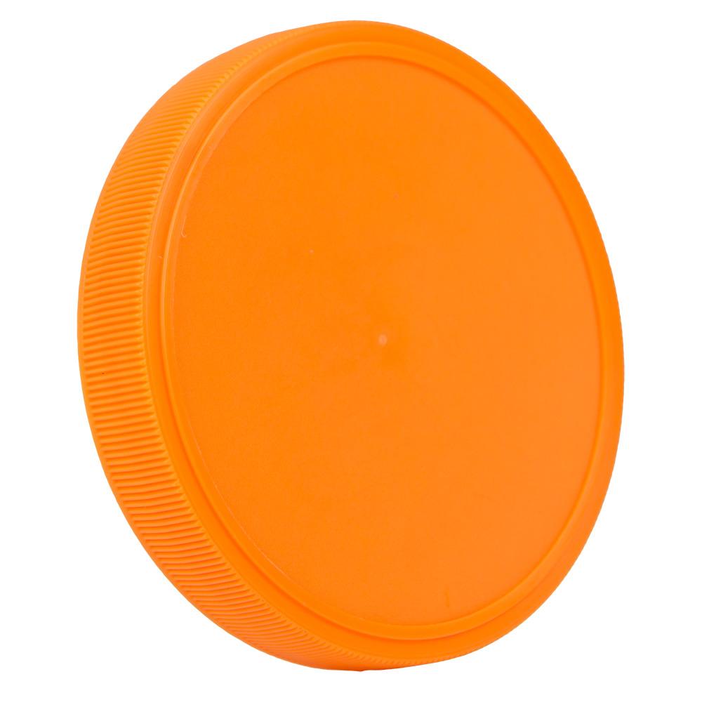 89mm Orange Polypropylene Fine Ribbed Lid
