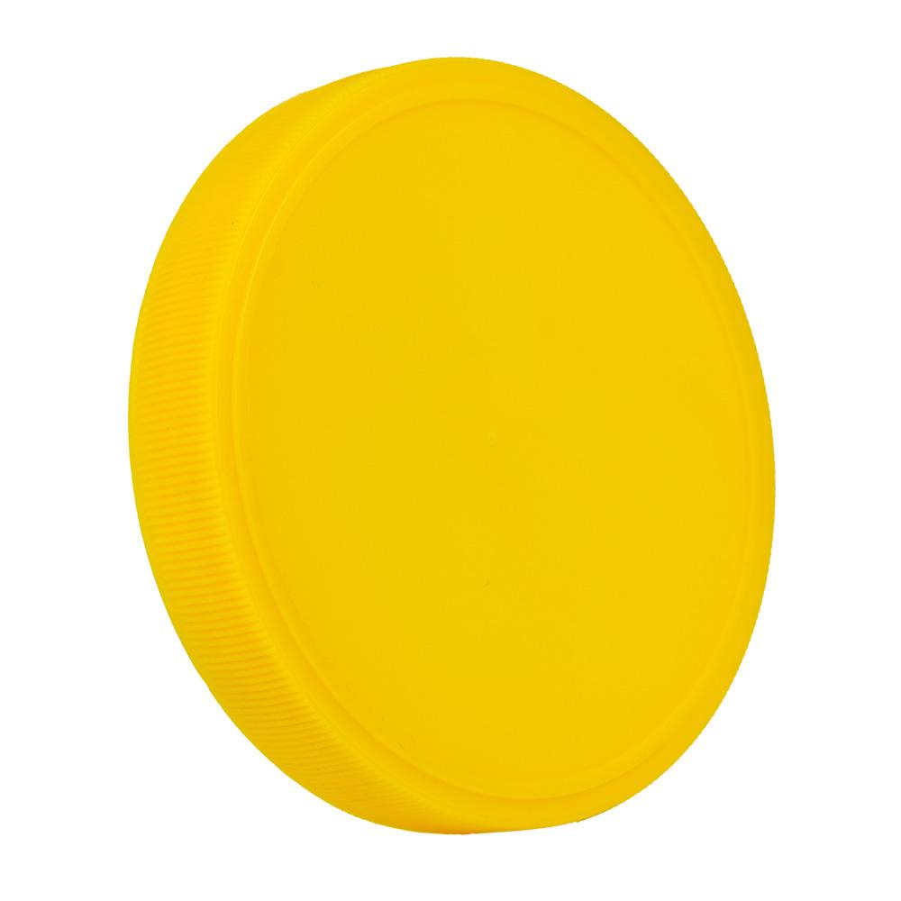 89mm Yellow Polypropylene Fine Ribbed Lid