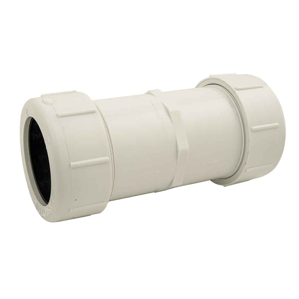 "1-1/2"" PVC Compression Coupling"