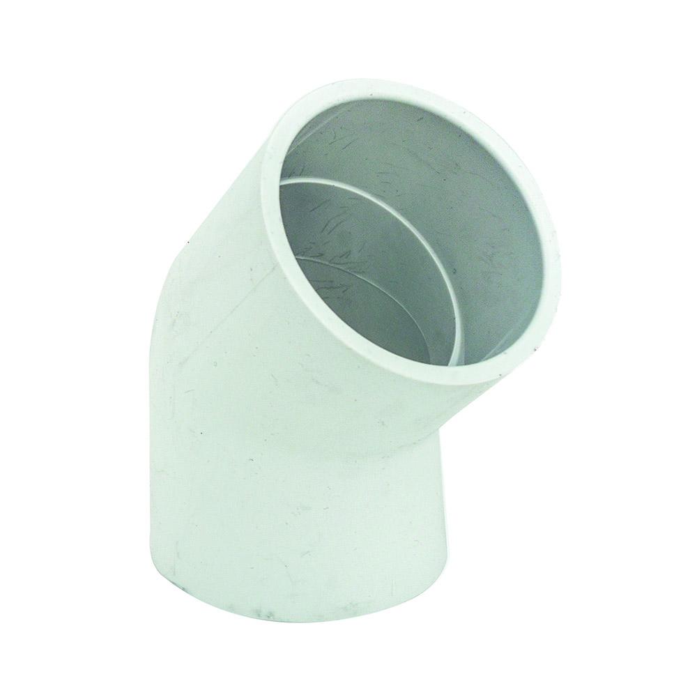 "2"" Schedule 40 White PVC Socket 45° Elbow"