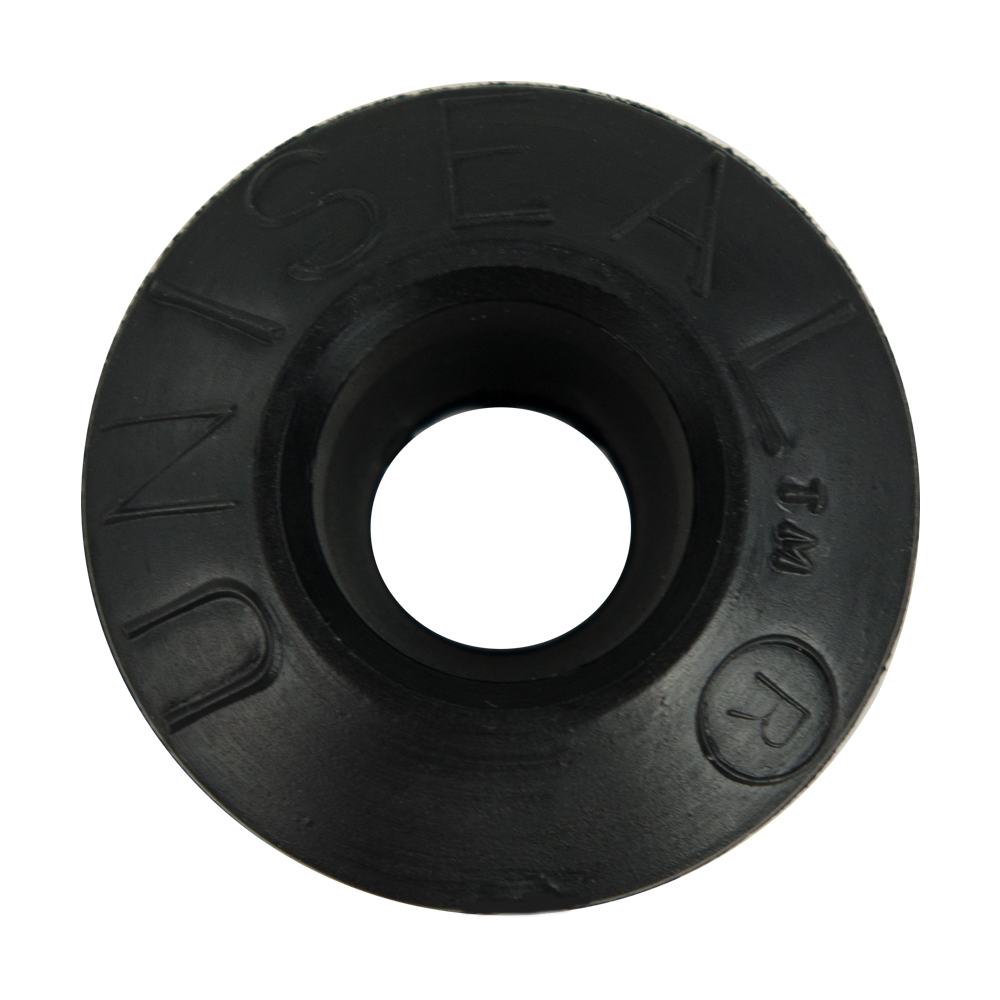 "3/8"" Black Uniseal® Pipe-to-Tank Seal"