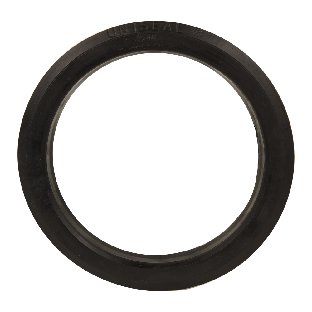 "6"" SDR-35 Black Uniseal® Pipe-to-Tank Seal"
