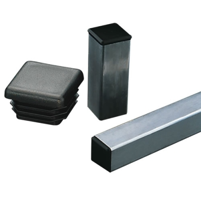 Square Black Tubing Plugs